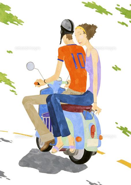 二 乗り バイク 人