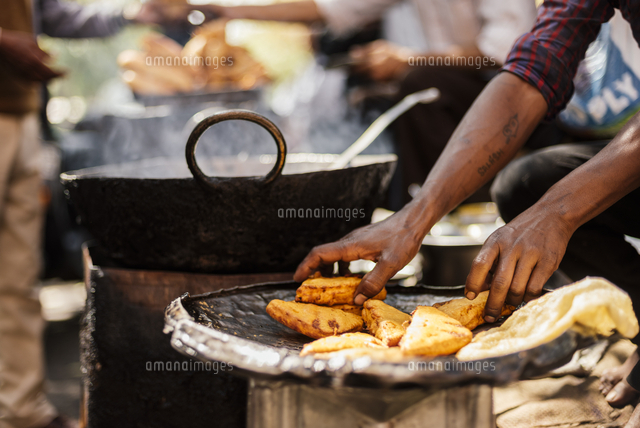 Chole Bhature Stall , Sector 7, Chandigarh, Punjab and Haryana Provinces, India, Asia