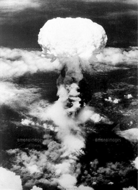 長崎に投下された原爆のきのこ雲=1945年8月9日[23023004423]の ...