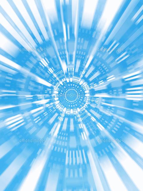 放射状の異次元空間イメージ c の写真素材 イラスト素材 アマナイメージズ