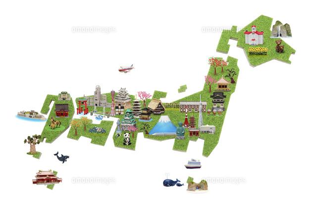 イラスト 日本 地図