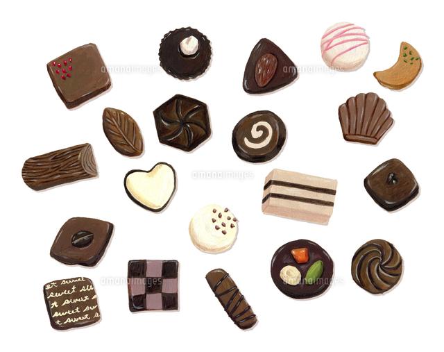 いろいろなチョコレート の写真素材 イラスト素材 アマナイメージズ