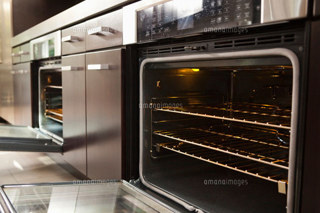 Open oven in industrial kitchen