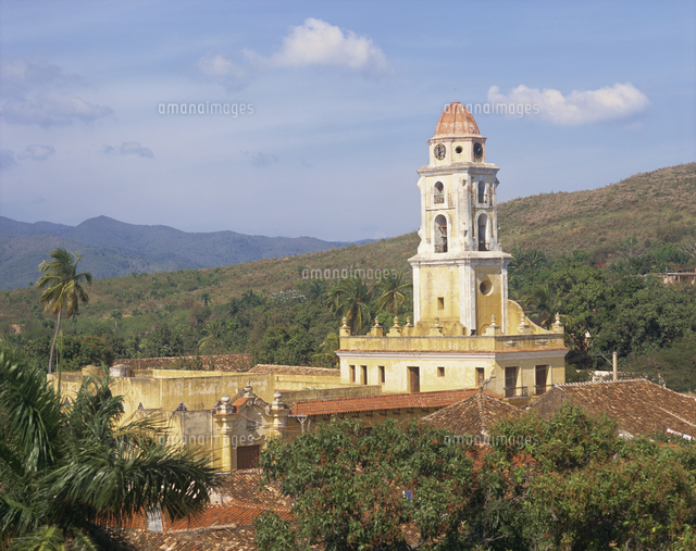 Tower of the Church and Convent of St. Francis of Assisi, Trinidad, Cuba 11104000684| 写真素材・ストックフォト・画像・イラスト素材|アマナイメージズ