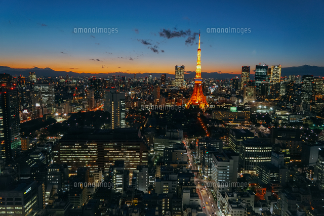 Illuminated Cityscape At Night