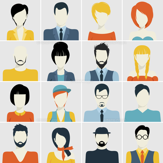 People avatar male and female human faces passport photo style icons set isolated vector illustration 60016003870| 写真素材・ストックフォト・画像・イラスト素材|アマナイメージズ