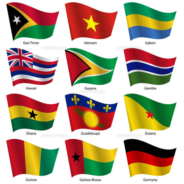 Set  Flags of world sovereign states. Vector illustration. Set number 4. Exact colors. Easy changes. 60016037160| 写真素材・ストックフォト・画像・イラスト素材|アマナイメージズ