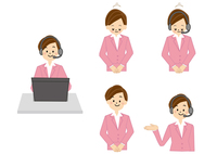 OL 受付 事務 女性 テレフォンオペレーター 10447000289  写真素材・ストックフォト・画像・イラスト素材 アマナイメージズ
