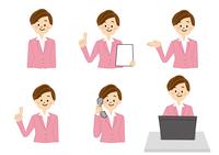 OL 受付 事務 女性 パソコン 電話 10447000291  写真素材・ストックフォト・画像・イラスト素材 アマナイメージズ