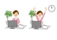 OL パソコン 事務 女性 10447000293  写真素材・ストックフォト・画像・イラスト素材 アマナイメージズ