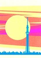 スカイツリーと初日の出 10467000008| 写真素材・ストックフォト・画像・イラスト素材|アマナイメージズ