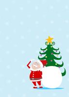 サンタクロースとクリスマスツリー 10467000033| 写真素材・ストックフォト・画像・イラスト素材|アマナイメージズ