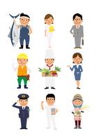いろいろな職業の人たち 10467000585| 写真素材・ストックフォト・画像・イラスト素材|アマナイメージズ