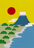 初日の出(三保の松原と富士山) 10467000676| 写真素材・ストックフォト・画像・イラスト素材|アマナイメージズ