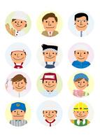 働く人々 商店街のいろいろな職業 10467001471| 写真素材・ストックフォト・画像・イラスト素材|アマナイメージズ