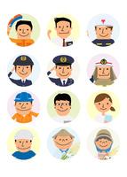 働く人々 いろいろな職業 10467001472| 写真素材・ストックフォト・画像・イラスト素材|アマナイメージズ