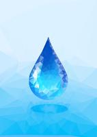 水イメージ 水滴 ポリゴン風 10467001645| 写真素材・ストックフォト・画像・イラスト素材|アマナイメージズ