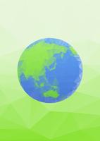 エコイメージ 地球 ポリゴン風 10467001649| 写真素材・ストックフォト・画像・イラスト素材|アマナイメージズ
