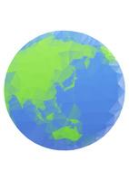 エコイメージ 地球 ポリゴン風 10467001650| 写真素材・ストックフォト・画像・イラスト素材|アマナイメージズ