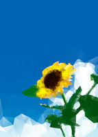 ひまわり ポリゴン風 10467001654| 写真素材・ストックフォト・画像・イラスト素材|アマナイメージズ