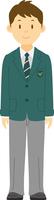 制服を着た男子高校生の全身 11002065637| 写真素材・ストックフォト・画像・イラスト素材|アマナイメージズ