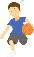 バスケットボールをする中学生男子 11002065680| 写真素材・ストックフォト・画像・イラスト素材|アマナイメージズ