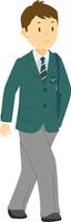 制服で通学をする高校生男子 11002065684| 写真素材・ストックフォト・画像・イラスト素材|アマナイメージズ