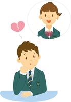 恋する高校生男子 11002065687| 写真素材・ストックフォト・画像・イラスト素材|アマナイメージズ