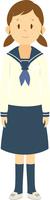 制服を着た女子中学生の全身 11002066518| 写真素材・ストックフォト・画像・イラスト素材|アマナイメージズ