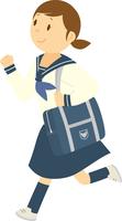 制服で通学する中学生女子 11002066553| 写真素材・ストックフォト・画像・イラスト素材|アマナイメージズ
