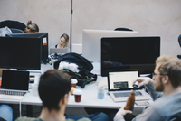 Computer programmers working in office