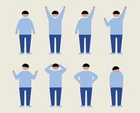 肥満の男性(いろいろな感情) 60000000206  写真素材・ストックフォト・画像・イラスト素材 アマナイメージズ