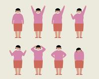 肥満の女性(いろいろな感情) 60000000207  写真素材・ストックフォト・画像・イラスト素材 アマナイメージズ