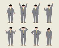 肥満のビジネスマン(いろいろな感情) 60000000208  写真素材・ストックフォト・画像・イラスト素材 アマナイメージズ