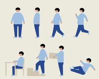 肥満の男性(いろいろな行動) 60000000212  写真素材・ストックフォト・画像・イラスト素材 アマナイメージズ