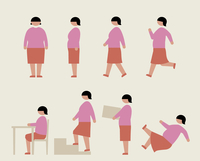 肥満の女性(いろいろな行動) 60000000213  写真素材・ストックフォト・画像・イラスト素材 アマナイメージズ