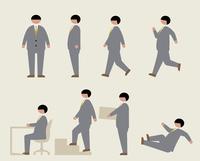 肥満のビジネスマン(いろいろな行動) 60000000214  写真素材・ストックフォト・画像・イラスト素材 アマナイメージズ