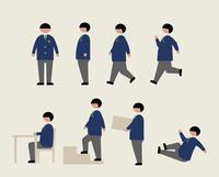 肥満の男子学生(いろいろな行動) 60000000216  写真素材・ストックフォト・画像・イラスト素材 アマナイメージズ