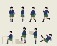 肥満の女子学生(いろいろな行動) 60000000217  写真素材・ストックフォト・画像・イラスト素材 アマナイメージズ