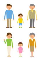 三世代家族 60004000002  写真素材・ストックフォト・画像・イラスト素材 アマナイメージズ