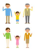 喜ぶ三世代家族 60004000012  写真素材・ストックフォト・画像・イラスト素材 アマナイメージズ