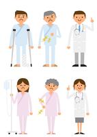 患者と医者 60004000025  写真素材・ストックフォト・画像・イラスト素材 アマナイメージズ