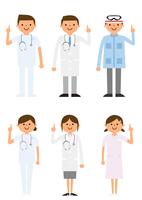 説明する病院で働く人たち 60004000028  写真素材・ストックフォト・画像・イラスト素材 アマナイメージズ