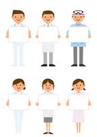 メッセージボードを待った病院で働く人たち 60004000029  写真素材・ストックフォト・画像・イラスト素材 アマナイメージズ