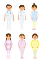 婦人科 妊婦と医者 60004000030  写真素材・ストックフォト・画像・イラスト素材 アマナイメージズ
