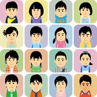 私服の学生男女集合のイラスト 60008000224| 写真素材・ストックフォト・画像・イラスト素材|アマナイメージズ