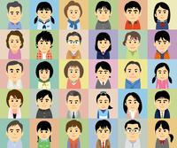 中高生の子供を持つ家族の集合イラスト 60008000285| 写真素材・ストックフォト・画像・イラスト素材|アマナイメージズ