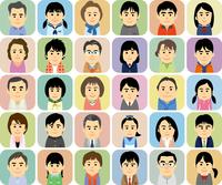中高生の子供を持つ家族の集合イラスト 60008000286| 写真素材・ストックフォト・画像・イラスト素材|アマナイメージズ