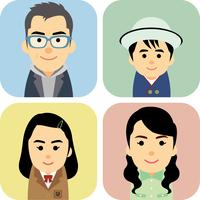 4人家族の集合イラスト 60008000290| 写真素材・ストックフォト・画像・イラスト素材|アマナイメージズ