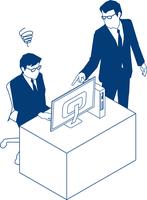上司に指示され混乱するビジネスマン 60009000188  写真素材・ストックフォト・画像・イラスト素材 アマナイメージズ